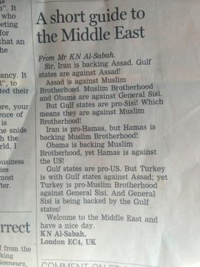 Just about sums it up… A short guide to the MiddleEast