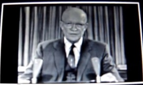 Dwight D. Eisenhower exit speech on Jan.17,1961. Warning us of the military industrialcomplex