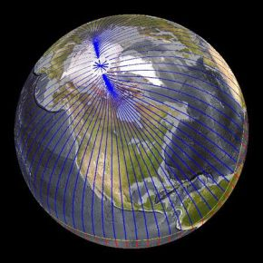 North Magnetic Pole Moving Due to Core Flux